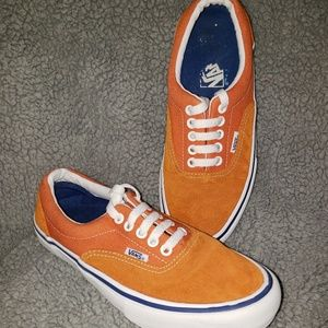 Orange Vans Skate Shoes